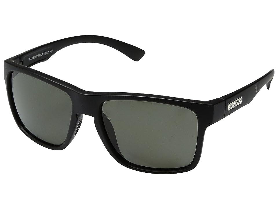 SunCloud Polarized Optics Rambler (Matte Black/Polarized Gray Polycarbonate Lens) Sport Sunglasses