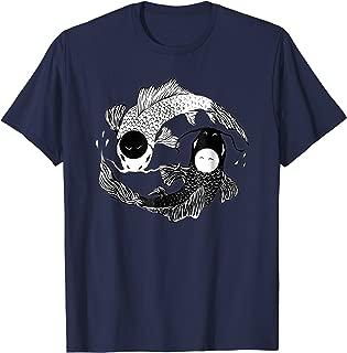 Yin & Yang Koi Carp Tee: Taoism Pisces T-Shirt