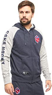 HC CSKA Moscow Club Hockey KHL Full-Zip Hoodie