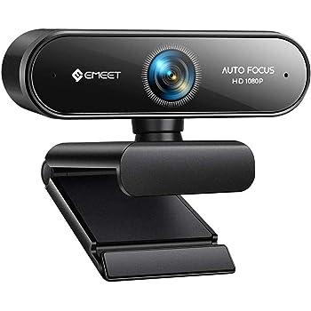 WEBカメラ ウェブカメラ eMeet NOVA 自動フォーカス HD1080P 200万画素 ステレオマイク内蔵 高画質パソコンカメラ skype会議用PCカメラ 75°広角 4層光学レンズ 省スペース 折り畳み式 USB給電 360°調整 プラグアンドプレイ 三脚取付可能 Windows10/8/7 Mac OS X, Youtube, Skype, zoom, facetime, Xbox