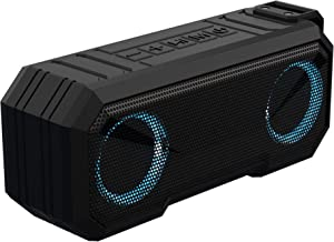 Sound Town X8 Portable Bluetooth Speaker, TWS Bluetooth, IPX7 Waterproof, Stereo Sound, LED Light, Built-in Mic for Phone Calls and Battery Power Bank, for Home and Outdoor, Black