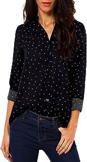 Best women's polyester button down shirts Reviews