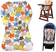Twoworld High Chair Cushion, Large Thickening Baby Stroller/Car/High Chair Seat Cushion Liner Mat Pad Cover Protector Breathable (Colored Stars)