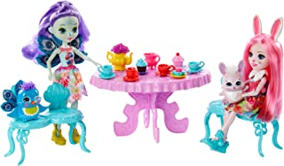 Enchantimals GLD41 Tasty Tea Party PLAYSET with BREE Bunny & Patter Peacock Dolls