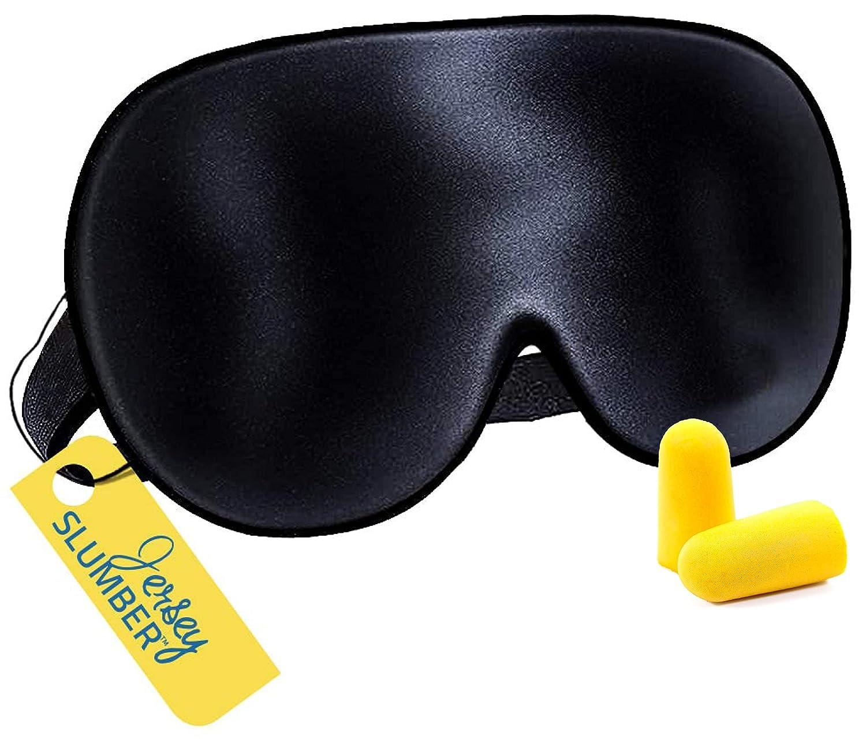 Jersey Slumber Sale item 100% Silk Sleep Mask Night's C Fees free Full For A