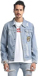 Mens Hipster Washed Denim Jacket