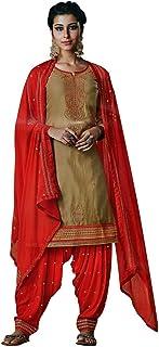 Ladyline Patiala Salwar Kameez Embroidered Womens Indian Dress Ready to wear Salwar Suit