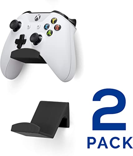 Game Controller Wall Mount Stand Holder (2 Pack) for XBOX ONE SWITCH PS4 STEAM PC NINTENDO, Universal Gamepad Accesso...