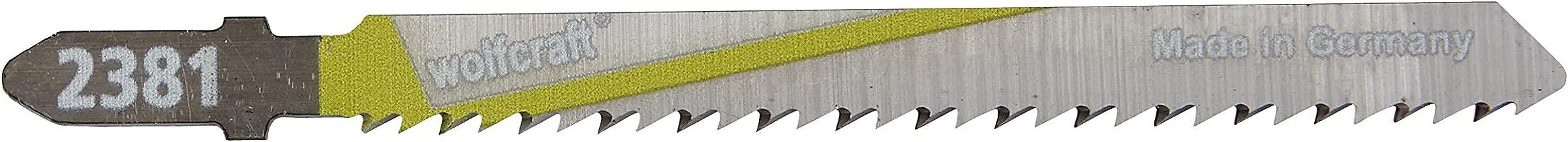 Metales no f/érreos Set de 2 Piezas INOX//Corte Fino//Hoja de Sierra para solicitaci/ón Extrema Wolfcraft 2388000 2388000-2 Hojas calar v/ástago en T//bimetal//chapas de Acero 1-3mm