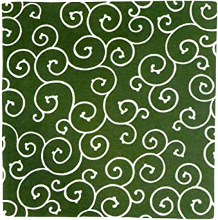 むす美 京唐草 風呂敷 綿ふろしき 綿100% 唐草模様 日本製 (150cm, グリーン)