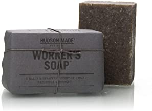 product image for Hudson Made Mens Bar Soap - Exfoliating Soap   Grit Soap   Men's Soap Perfectly Suited for Scrubbing Tough Spots Like Hands, Elbows and Feet   Worker's Soap Provides Your Hands with a Heavy-duty Clean