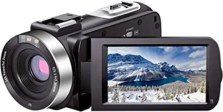 Video Camera Camcorder Full HD 1080P 30FPS 24.0 MP IR Night Vision Vlogging Camera Recorder 3.0 Inch IPS Screen 16X Zoom Camcorders Camera Remote Control with 2 Batteries