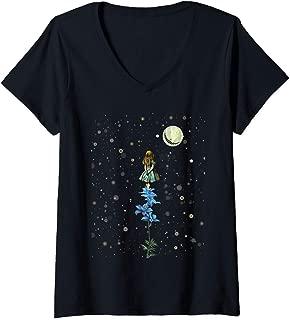 Womens Wonderland Sky Viewing Time - Alice In Wonderland T Shirt V-Neck T-Shirt