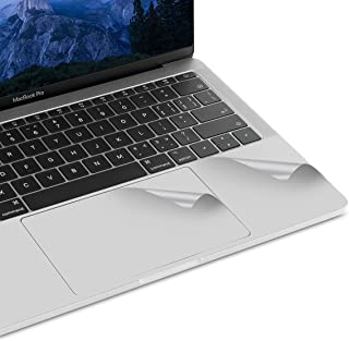 lention Palm Rest Skin for MacBook Pro (13-inch, 2016 2017 2018 2019, with Thunderbolt 3 Ports), Protective Vinyl Decal Cover Sticker with Trackpad Protector (Silver)