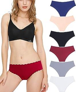Donpapa Culottes Femme sans Couture Slips Soie Glacée Invisible sous-vêtements Lingerie Microfibre Shorties (Lot de 3/6)