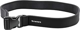 Simms Neoprene Wading Belt, Extra-Comfortable 2 Inch Wader Belt with Adjustable Buckle, Fly Fishing Gear and Accessories for Men and Women, Black
