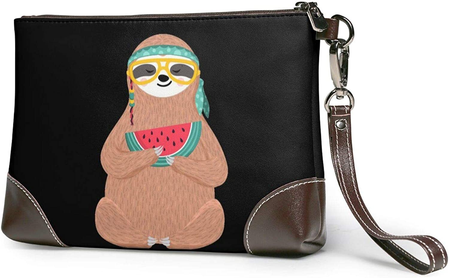 OFFicial shop Cute Slooth 2021 new Clutch Purses Leather Wristlet Wallet