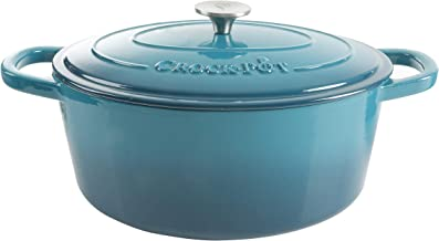 CROCK-POT 109475.02 Artisan Oval Dutch Oven, 7-Quart, Teal Ombre