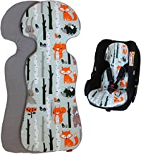 ByBoom Basics Baby Sitzauflage, Sitzeinlage 77x32 cm, Baumwoll- und Frotteeseite, für Babyschale, Autositz z.B. Maxi-Cosi, Britax-Römer, Cybex, Kinderwagen, Buggy, Fahrradanhänger - Made in EU
