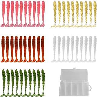 YYYY Señuelos de Pesca Kit de 50 Señuelos de Vinilo 7cm
