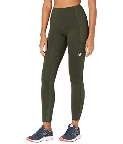 New Balance Impact Heat Tights (Dark Olive) Women