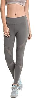 Women's Performance Activewear - Yoga Leggings with Sleek Contrast Mesh Panels