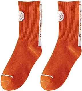 lijun, lijun Calcetines Largos de algodón Unisex Calcetines de Skate de Color sólido con Letras Harajuku