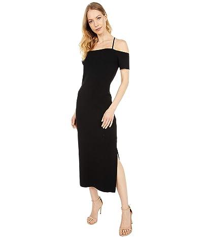 WAYF Deena Off Shoulder Knit Midi Dress