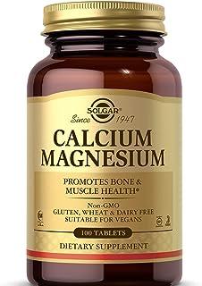 Solgar Calcium Magnesium, 100 Tablets - Promotes Bone & Muscle Health - Non-GMO, Vegan, Gluten Free, Dairy Free, Kosher, H...