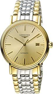 Longines Presence Champagne Dial Men's Two Tone Watch L49212327