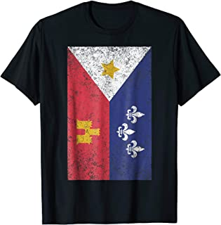 Acadian Flag Retro Cajun T-Shirt