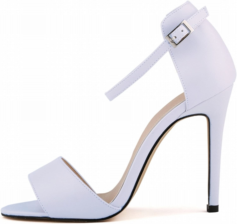 Robert Westbrook Womens Sandals Open Toe Ankle Straps High Heels Summer Pumps Femininos Sandalias 102-2Ma White 9.5