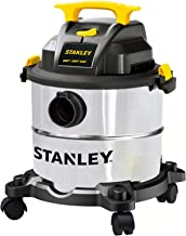 Stanley 5 Gallon Wet Dry Vacuum, 4 Peak HP Stainless Steel 3 in 1 Shop Vac Blower with..