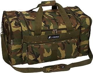 Woodland Camo Duffel Bag, Camouflage, One Size