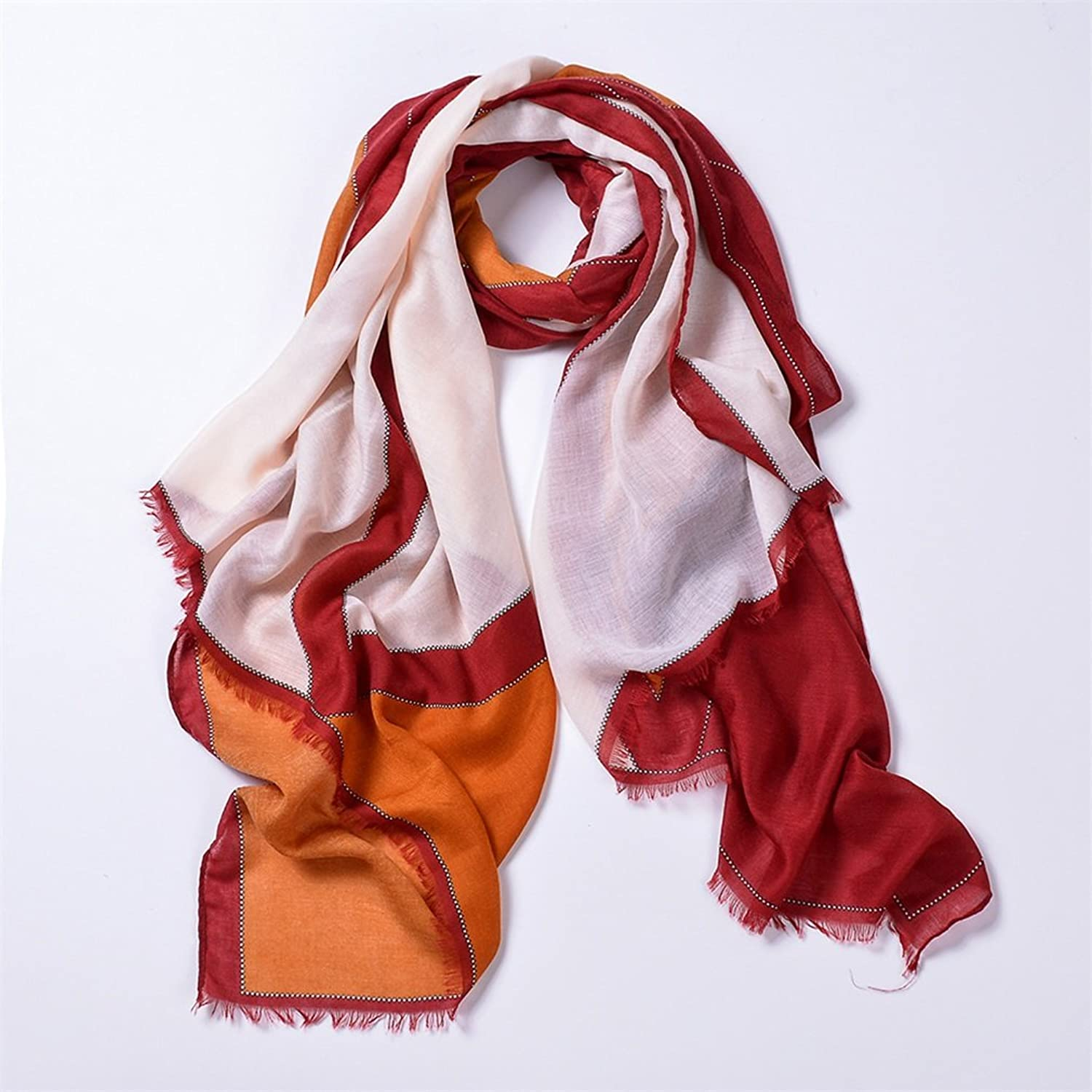 Lady's Shawl Women Sunscreen Shawls Summer Scarf Gradient color Long Lightweight Fight color Scarves Spring And Summer Scarves Decoration ( color   3 )