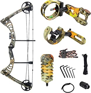 iGlow 30-55 lbs Black/Green/Camouflage Camo Archery Hunting Compound Bow 175 150 70 55 40 30 lb Crossbow