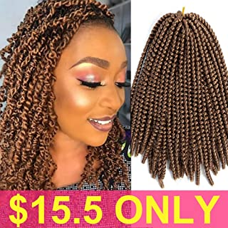 Ombre Crochet Braids Hair Extensions Colors Spring Twist Synthetic Braiding Low Temperature Fiber 8inch 110g (27#)