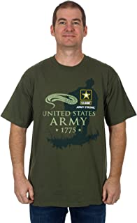 Men's Army T-Shirt a Crew Neck T-Shirt in Olive Green
