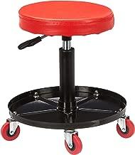 AmazonBasics Pneumatic Shop Stool, Garage Seat Red TRHRS1701-RED