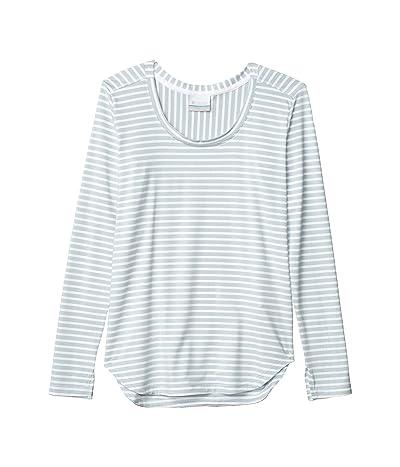 Columbia Firwood Camptm Long Sleeve Tee (White Medium Stripe) Women