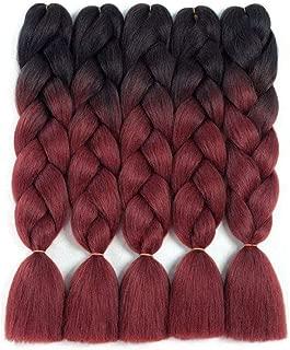 Ombre Kanekalon Braiding Hair Extensions 5Pcs/Lot 24