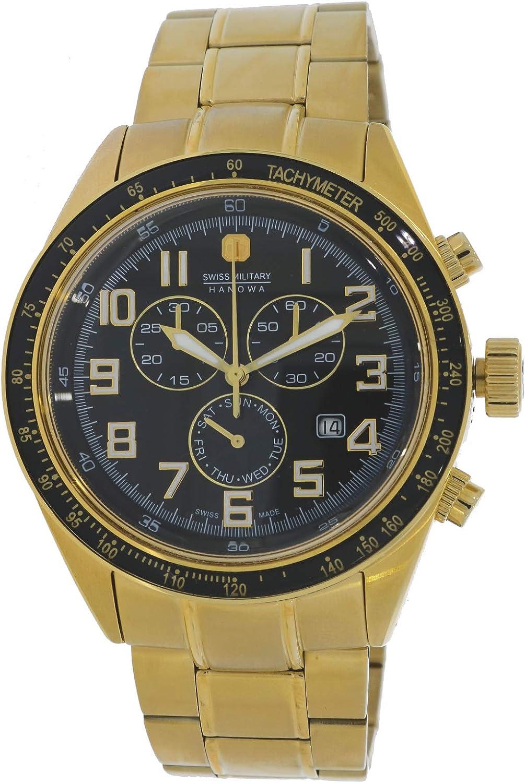 Swiss Military Hanowa New Legend 06-5134.02.007 - Reloj de pulsera para hombre, correa de acero inoxidable, 10 bar, fecha