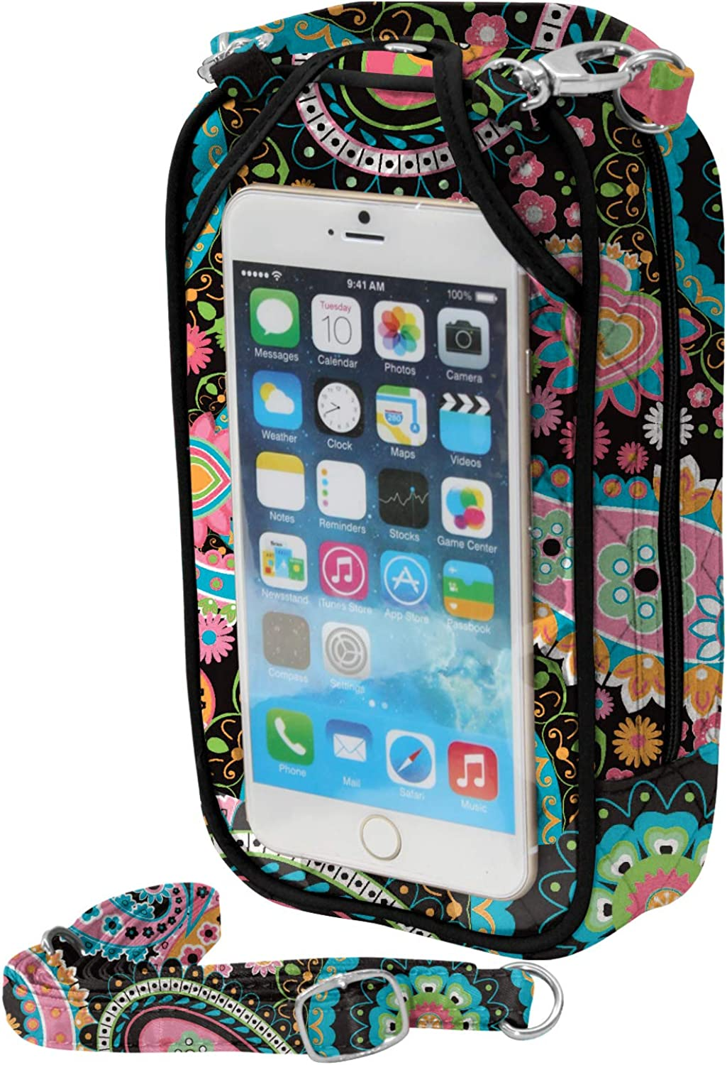 Charm14 Crossbody Cell Phone PurseQuilt Fits all phones