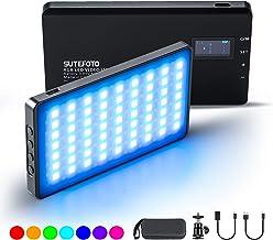 RGB LED Video Lights,On-Camera Lighting Mini Pocket Light for Vlog YouTube Videos with(RGB,2500K-8500K,0-1530°,4000mah,OLED Display)