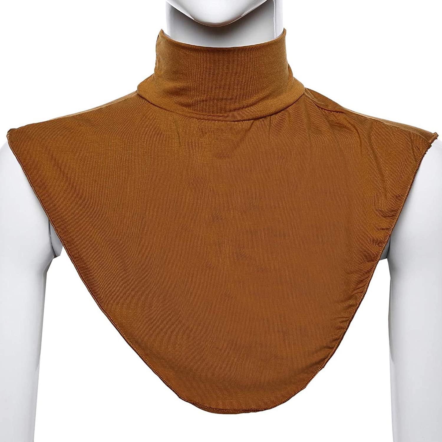 YOUSIKE Muslim Scarf, Womens Mock Turtleneck Dickey Muslim Modal Detachable Half Top Solid Color False Fake Collar Islamic Hijab Extensions Stretch Neck Cover