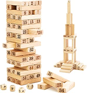 Jenga 54 Pieces Wooden Blocks Medium Size