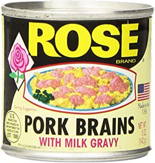 Rose Pork Brains with Milk Gravy 5 Ounce Cans (4 Cans Per Pack)