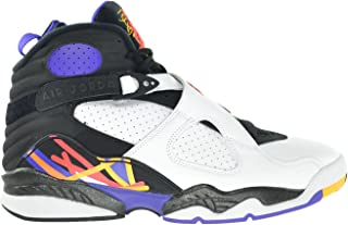 Jordan Air 8 Retro Threepeat Men's Shoes White/Infrared-Black-Bright Concord 305381-142