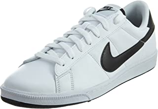 Mens Tennis Classic White/Black Ankle-High Suede Fashion Sneaker - 9M