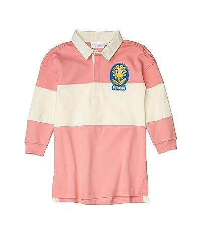 mini rodini Rugby Dress (Toddler/Little Kids/Big Kids) (Pink) Girl